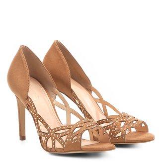 Peep Toe Shoestock Salto Fino Cristais