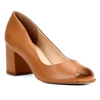 Peep Toe Shoestock Salto Grosso Básico