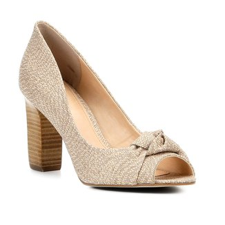Peep Toe Shoestock Salto Grosso Nó