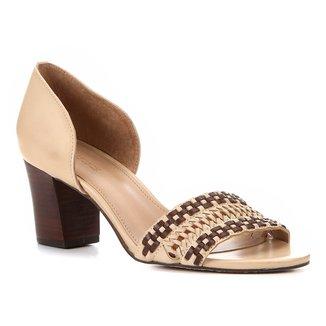 Peep Toe Shoestock Salto Médio Handmade