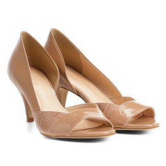 Peep Toe Shoestock Salto Médio Texturas