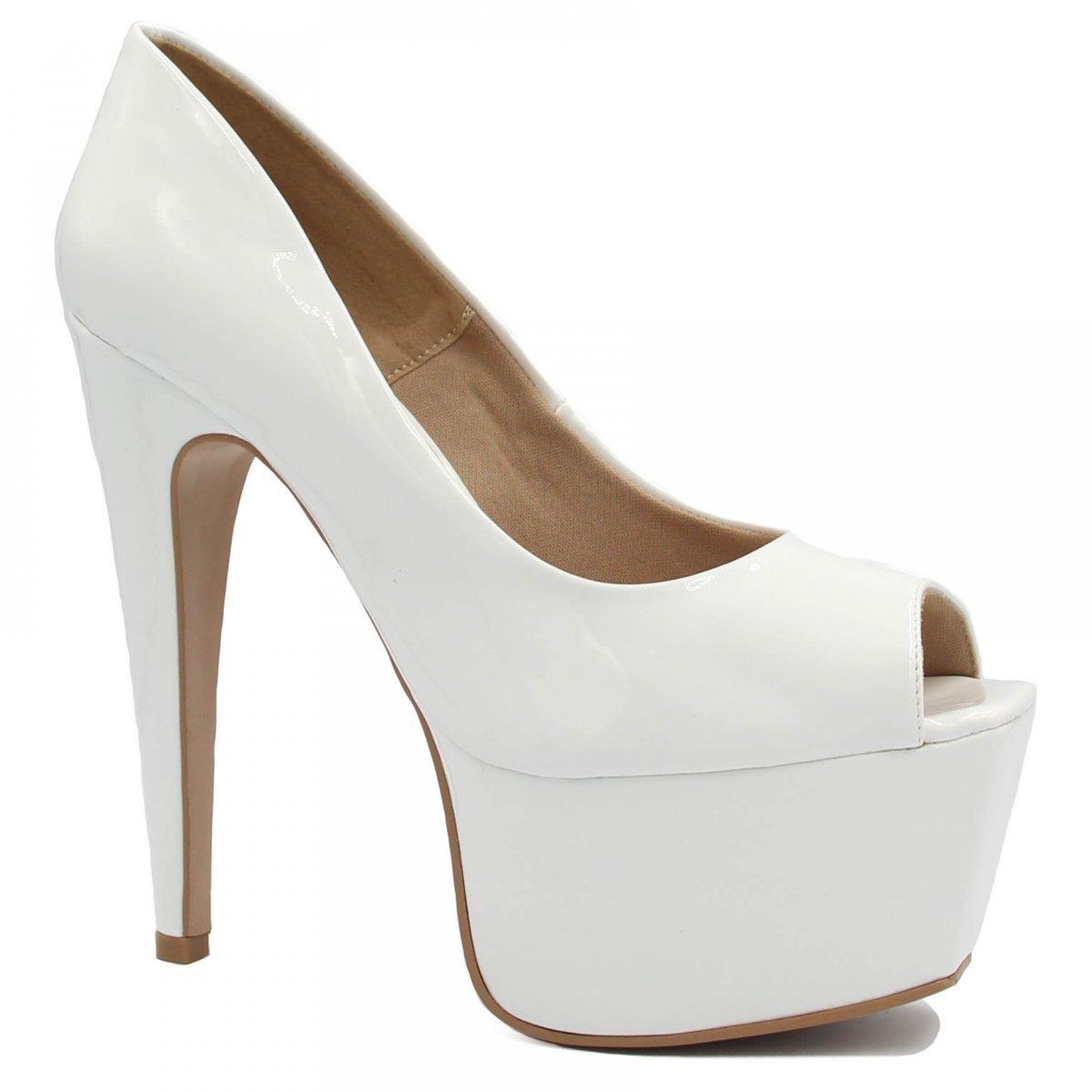 Meia Peep Branco Shoes Shoes Zariff Branco Meia Pata Zariff Pata Toe Peep Toe agIwqO
