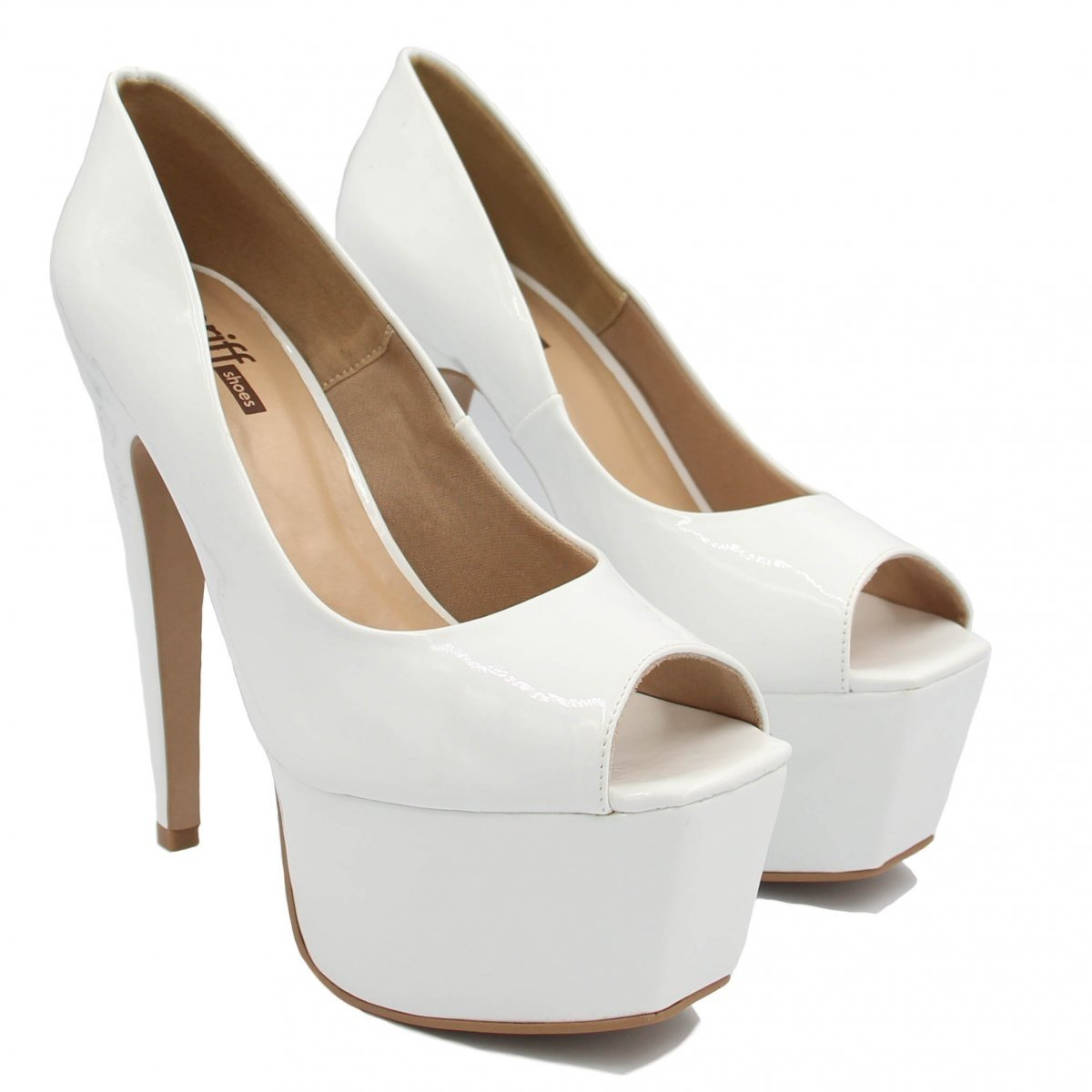 Branco Peep Pata Peep Zariff Toe Meia Toe Shoes 0Yw6qYd