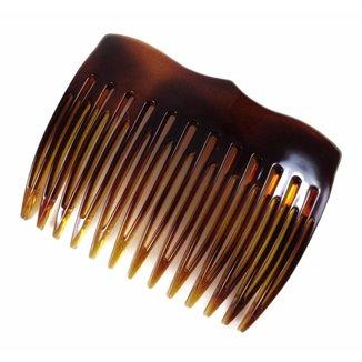 Pente Medio 13 Dentes Prendedor 6,5x5,0cm Tartaruga De Acetato Musa Kalliopi