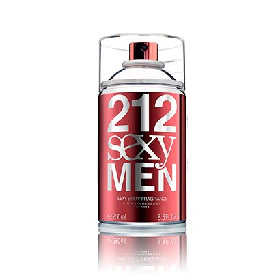 Perfume Carolina Herrera 212 Sexy Men Body Spray Masculino 250ml - Masculino-Incolor