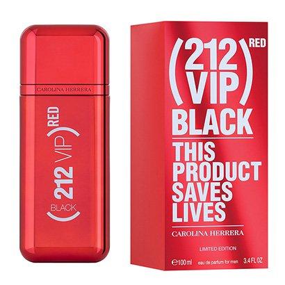Perfume Carolina Herrera 212 Vip Men Black (RED) Eau de Parfum Masculino 100ml Masculino-Incolor