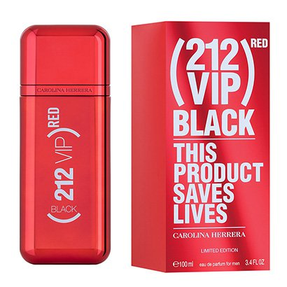Perfume Carolina Herrera 212 Vip Men Black (RED) Eau de Parfum Masculino 100ml - Masculino-Incolor