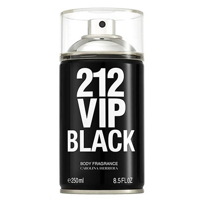 Perfume Carolina Herrera 212 Vip Men Black Body Spray Masculino 250ml - Masculino-Incolor