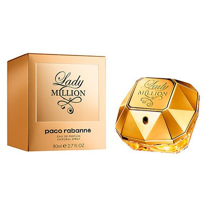 Perfume Feminino Lady Million Paco Rabanne Eau de Parfum 80ml - Feminino-Incolor