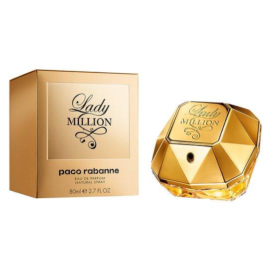 Perfume Feminino Lady Million Paco Rabanne Eau de Parfum 80ml - Incolor
