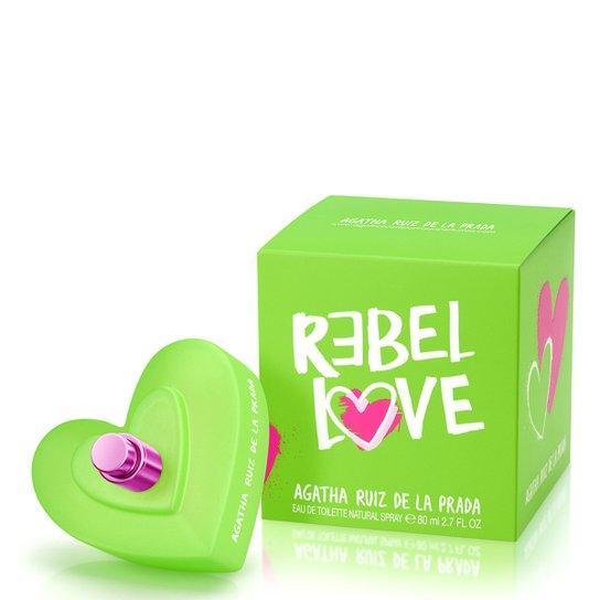 Perfume Feminino Rebel Love Agatha Ruiz de La Prada Eau de Toilette 80ml - Incolor