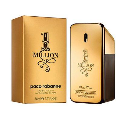 Perfume Masculino One Million Paco Rabanne Eau de Toilette 50ml - Masculino-Incolor
