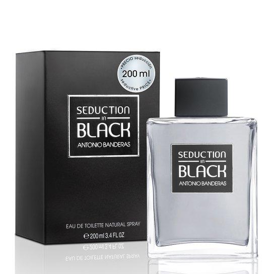 Perfume Masculino Seduction in Black Men Antonio Banderas Eau de Toilette 200ml - Incolor