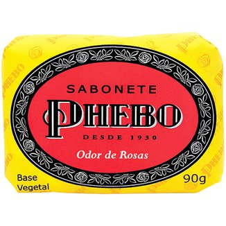 Phebo Sabonete em Barra de Glicerina Odor de Rosas 90g