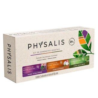 Physalis Nutrição Revitalização Suavidade Kit – 3 Sabonetes em Barra Kit