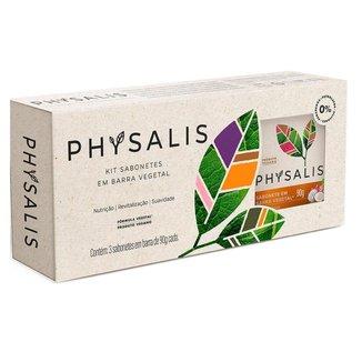 Physalis Puro Cuidado Coco e Pitaya Kit – 3 Sabonetes em Barra Kit