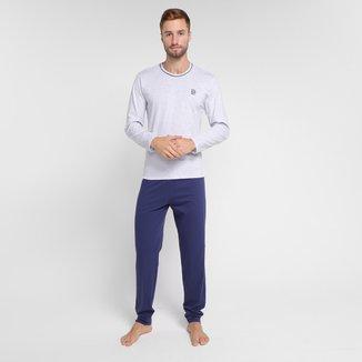 Pijama Adulto Evanilda Borth Longo Masculino