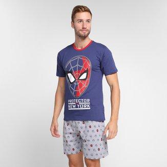 Pijama Adulto Evanilda Spider Curto Masculino