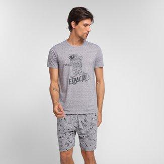Pijama Adulto Malwee Estampado Curto Masculino