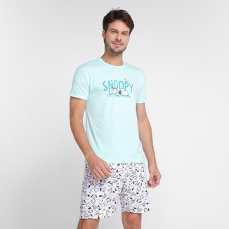 Pijama Adulto Malwee Snoopy Curto Masculino