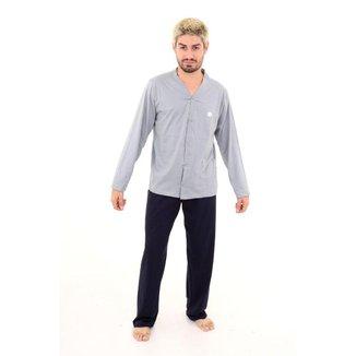 Pijama Algodão Mechler Aberto Longo Masculino