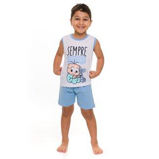 Pijama Bebê Evanilda Regata Cebolinha Masculino