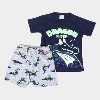 Pijama Bebê Kyly Dragon Brilha no Escuro Masculino