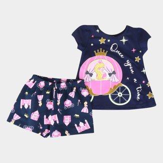 Pijama Bebê Kyly Princesa Brilha no Escuro Feminino