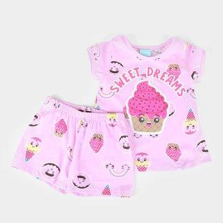 Pijama Bebê Kyly Sweet Dreams Brilha no Escuro Feminino