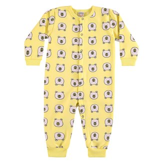 Pijama Bebê Macacão Longo Boca Grande Ursinho