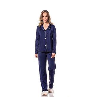 Pijama Camiseta Manga Longa Calça Macia Homewear Trituê Feminino