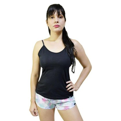 Pijama Conjunto Regata  De Alca  E Short Arco Iris Feminino