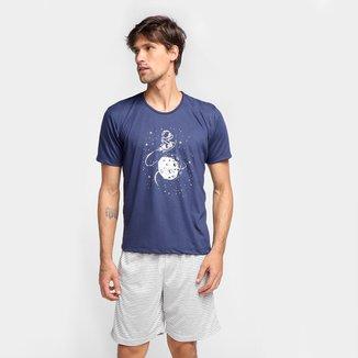 Pijama Curto Clube do Pijama Astronauta Masculino