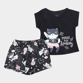 Pijama Curto Elian Brilha No Escuro Feminino