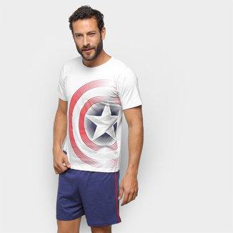 Pijama Curto Evanilda Avengers Masculino