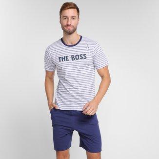 Pijama Curto Evanilda The Future Boss Masculino