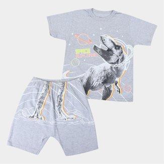 Pijama Curto Infantil Elian T Rex Masculino