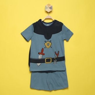 Pijama Curto Infantil Hering Estampado Masculino