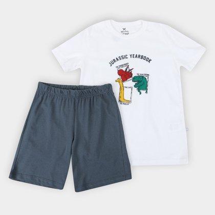 Pijama Curto Infantil Hering Jurassic Masculino