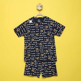 Pijama Curto Infantil Hering Kids Masculino