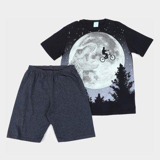Pijama Curto Infantil Kyly Dinossauro Masculino