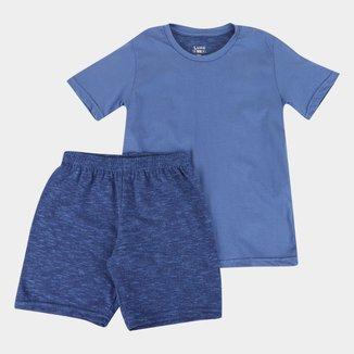 Pijama Curto Infantil Lupo Camiseta + Short Masculino
