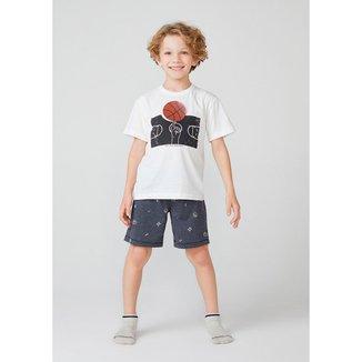 Pijama Curto Infanto Juvenil Hering Estampado Masculino