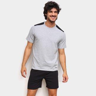 Pijama Curto Mash Detalhe Ombro Masculino