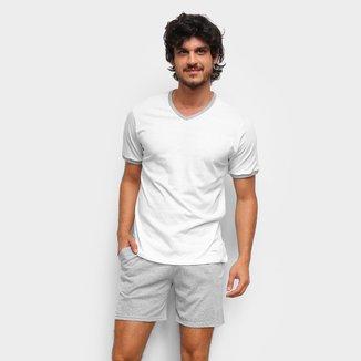 Pijama Curto Mash Gola V Masculino