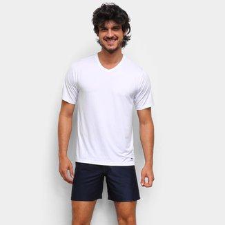 Pijama Curto Mash Microfibra Gola V Masculino