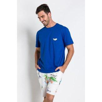 Pijama Curto Meia Malha E Molecotton