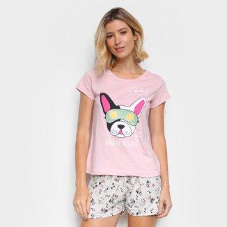 Pijama Curto Three Hands Não Me Acorde Feminino