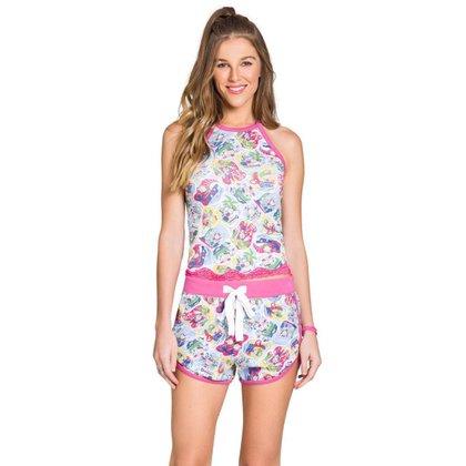 Pijama De Alça Feminino Oceano