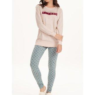 Pijama Feminina Cor Com Amor